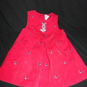 Gymboree Vintage Whale Watching Dress 3 -6 Months